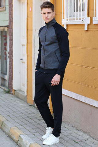 Image of Men's Navy Blue Sweat Suit