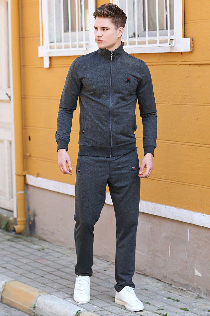 Men's Melange Anthracite Sweat Suit