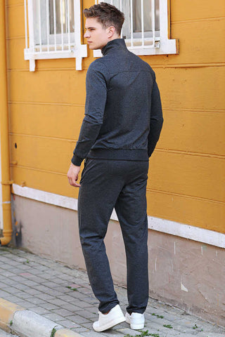 Image of Men's Melange Anthracite Sweat Suit