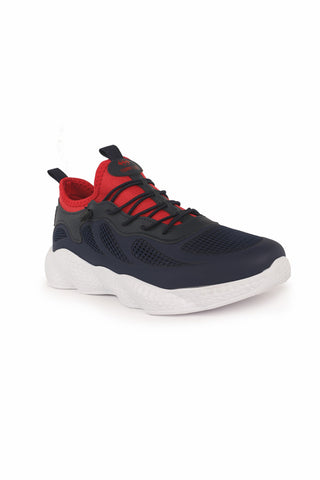 Men's Navy Blue- Red Sport Shoes