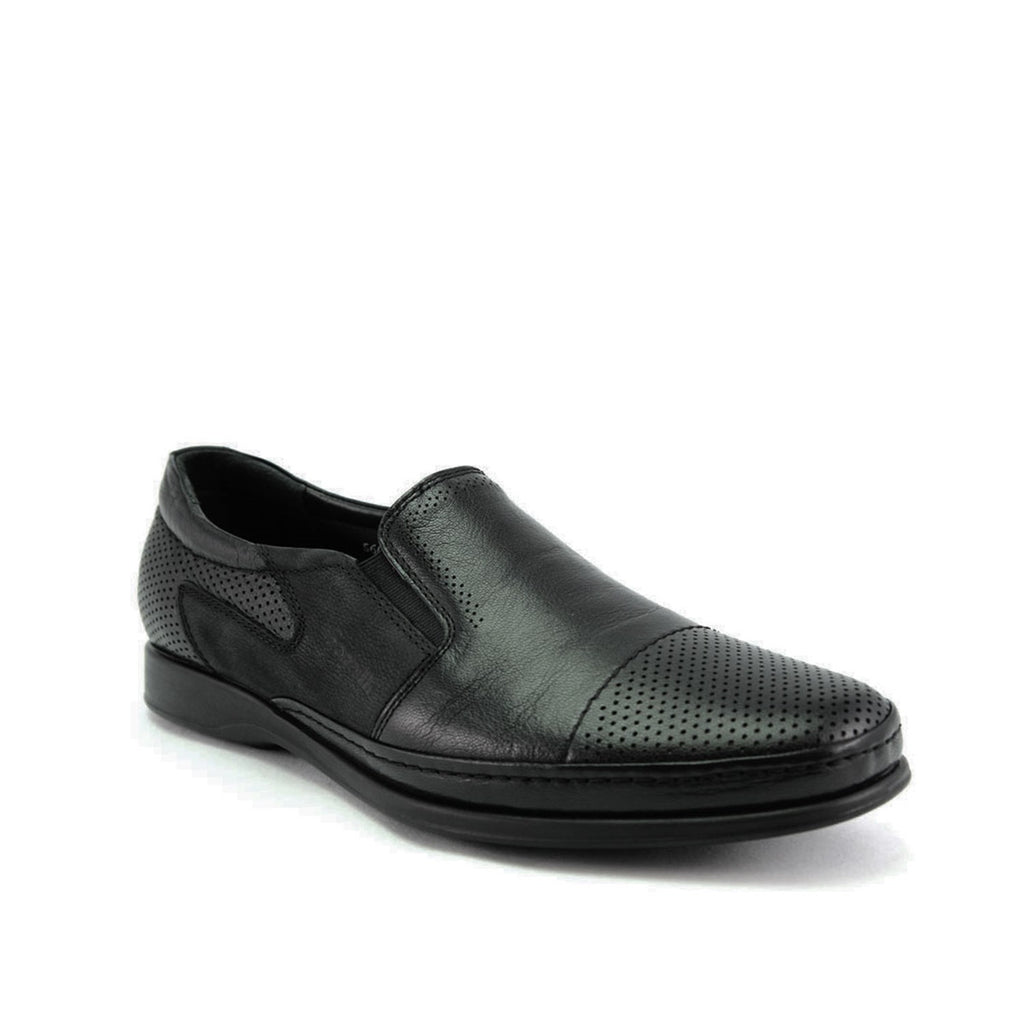 Men's Black Leather Comfort Shoes