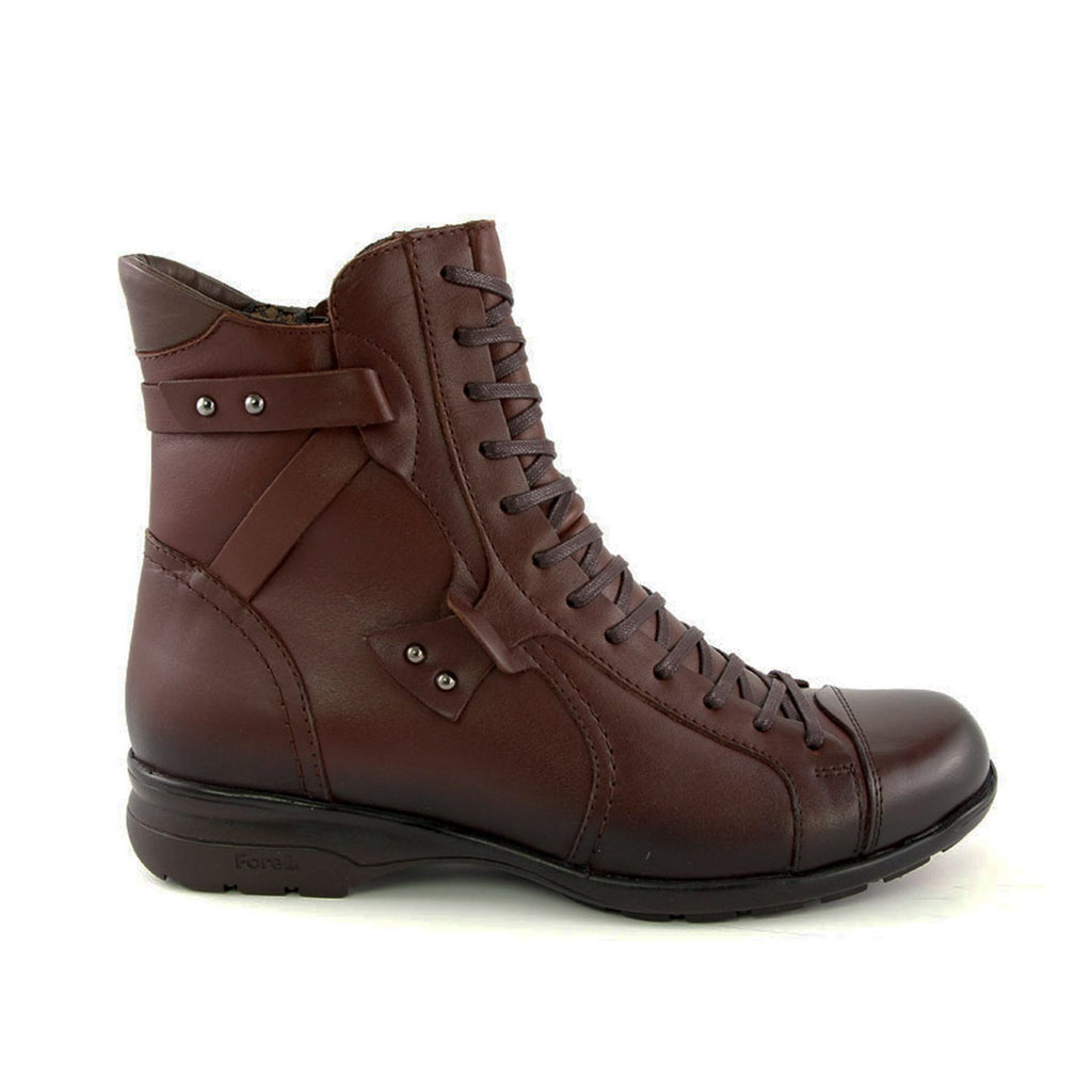 Women's Brown Leather Comfort Boots