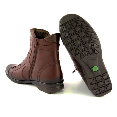 Image of Women's Brown Leather Comfort Boots