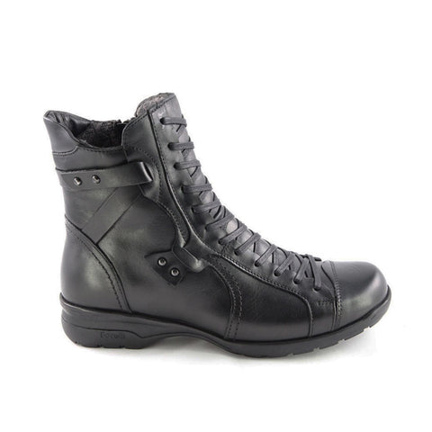 Image of Women's Black Leather Comfort Boots