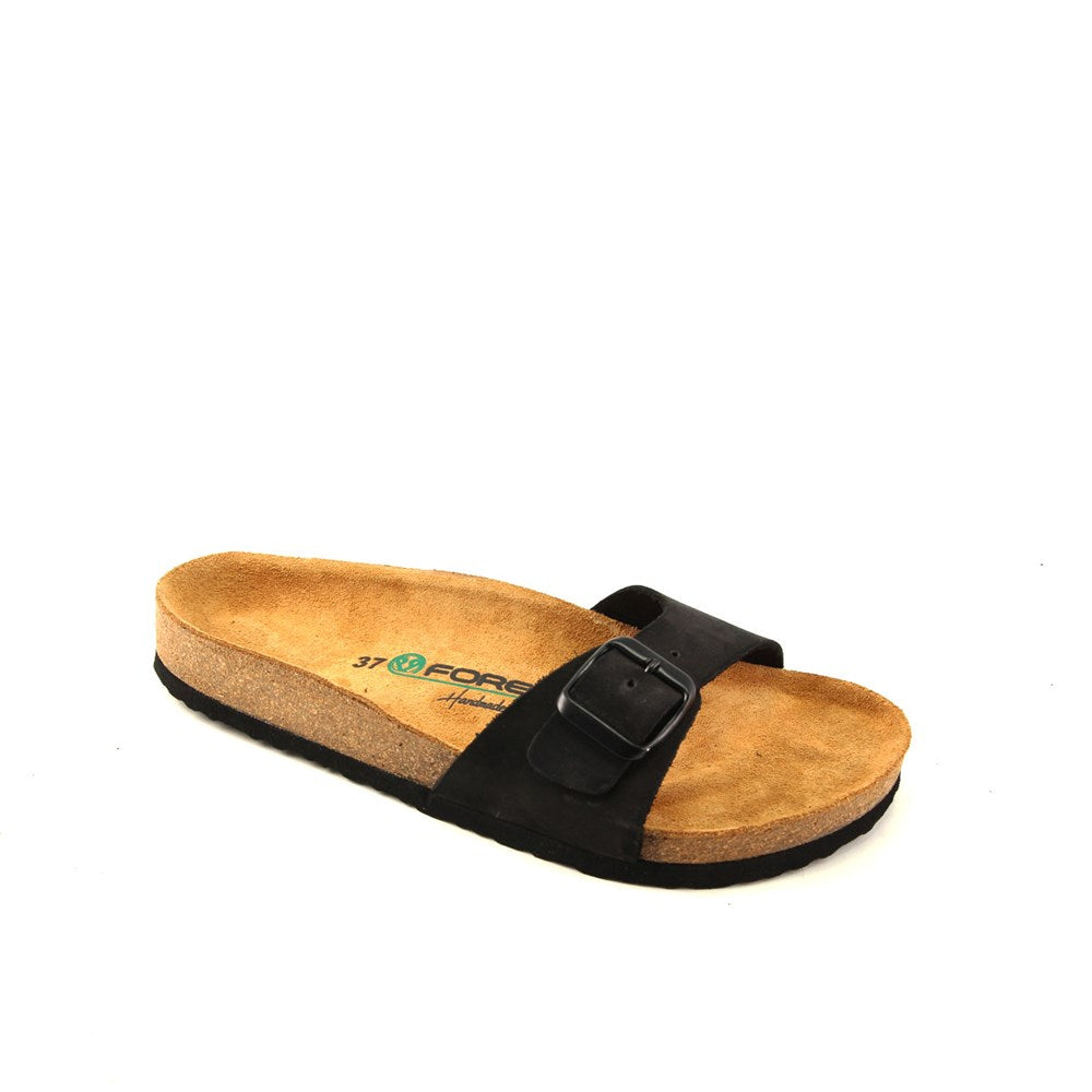 Women's Black Nubuck Anatomic Slippers