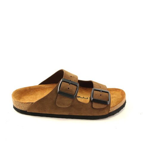 Image of Women's Sand Beige Nubuck Anatomic Slippers