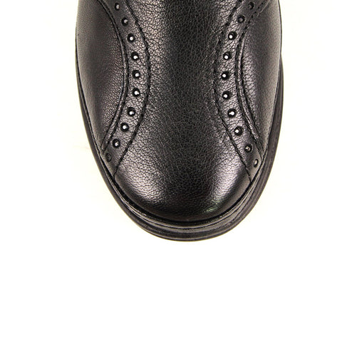 Image of Women's Black Leather Comfort Shoes