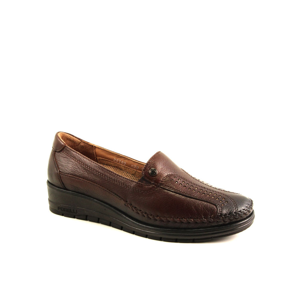 Women's Brown Leather Comfort Shoes