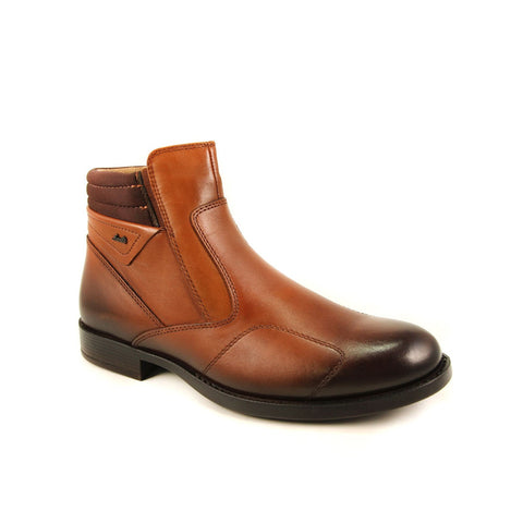 Men's Ginger Leather Comfort Boots
