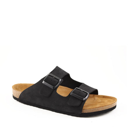 Men's Black Nubuck Anatomic Slippers