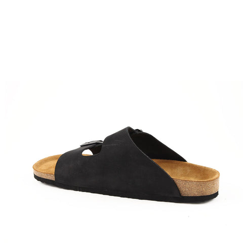 Image of Men's Black Nubuck Anatomic Slippers