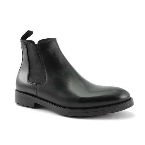 Men's Black Leather Comfort Boots