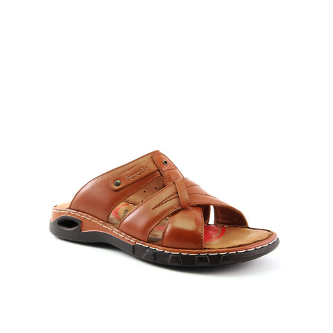 Image of Men's Ginger Leather Slippers