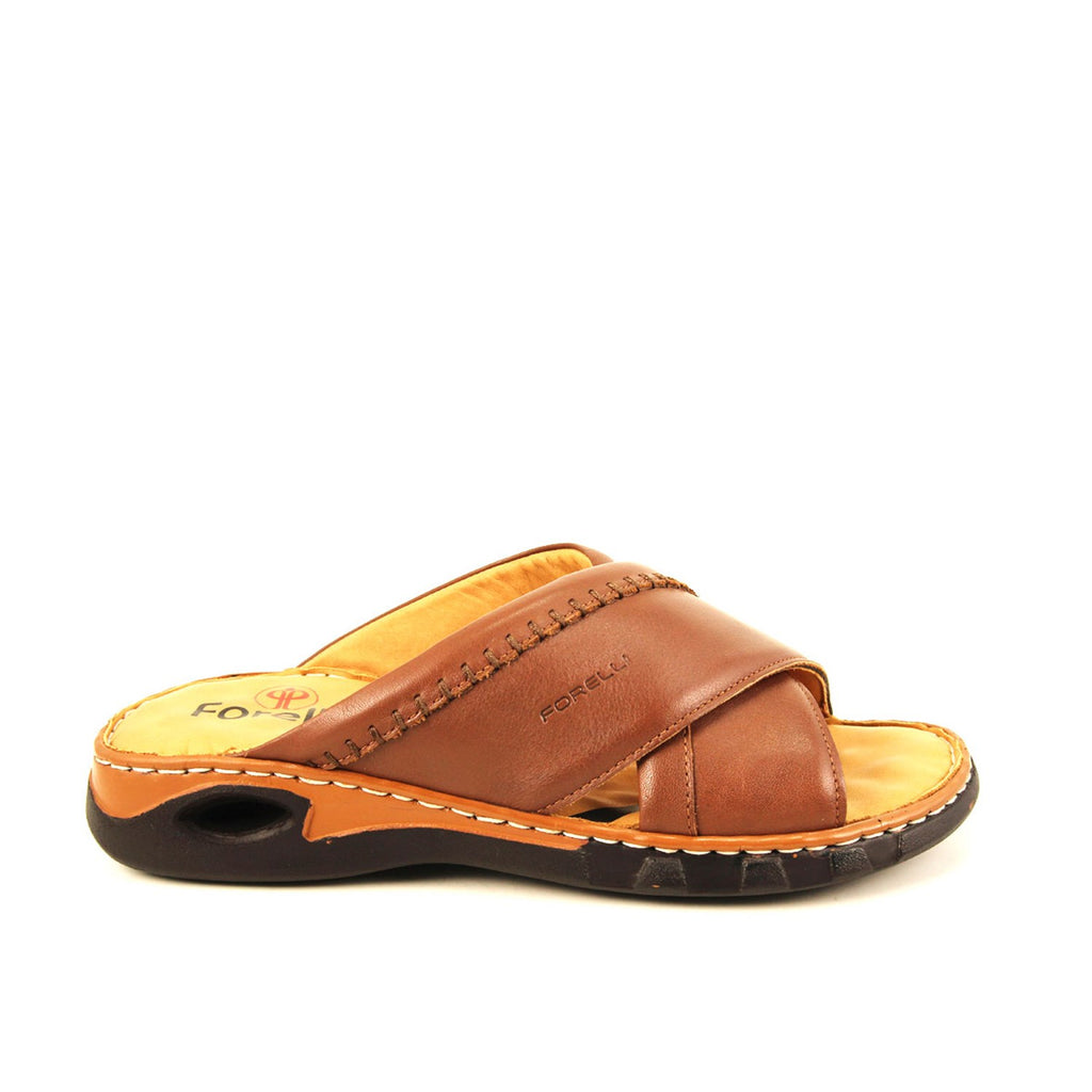 Men's Ginger Leather Slippers