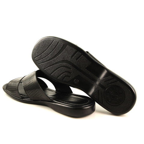 Men's Black Patent Leather Slippers