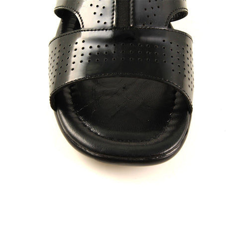 Image of Men's Black Patent Leather Slippers