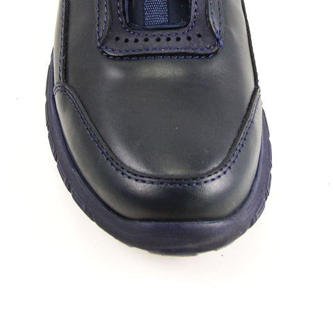 Image of Men's Navy Blue Leather Comfort Shoes