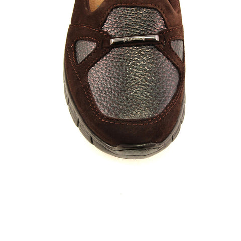Image of Women's Brown Leather Comfort Shoes