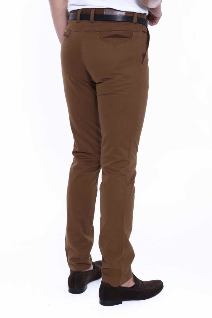 Men's Garnish Brown Pants