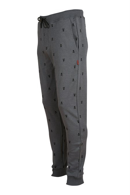 Men's Patterned Anthracite Sport Pants