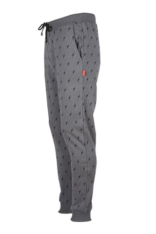 Image of Men's Patterned Anthracite Sport Pants