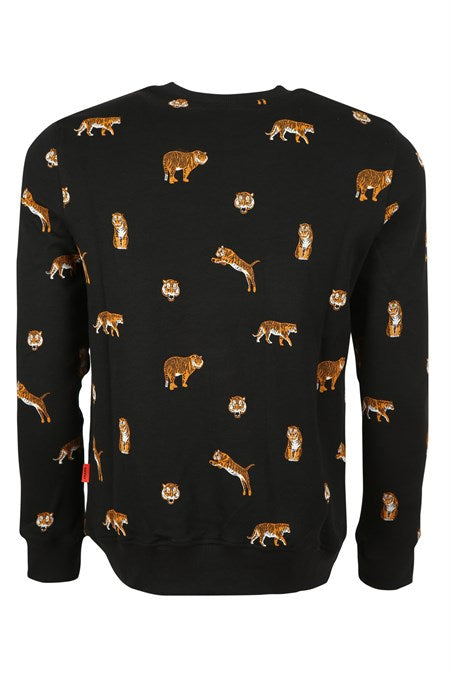 Men's Printed Black Sweatshirt