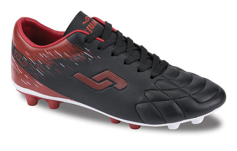 Image of Men's Lace-up Black- Red Football Shoes