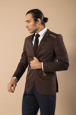 Men's Brown Cotton Jacket