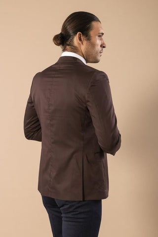 Image of Men's Brown Cotton Jacket