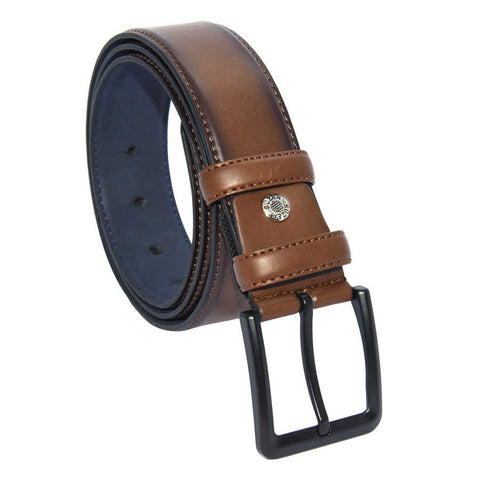 Image of Men's Brown Artificial Leather Classic Belt- 4 cm