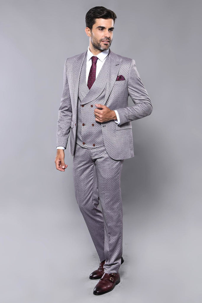 Men's Patterned Formal Suit Set