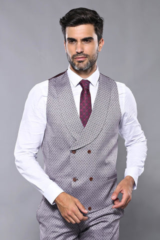 Image of Men's Patterned Formal Suit Set