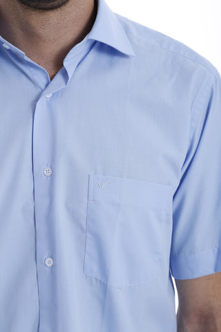 Image of Men's Light Blue Linen Shirt