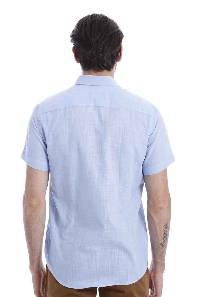 Men's Light Blue Linen Shirt
