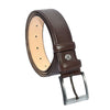 Men's Plain Dark Brown Artificial Leather Classic Belt- 3.5 cm