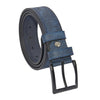 Men's Patterned Navy Blue Artificial Leather Sport Belt- 4 cm