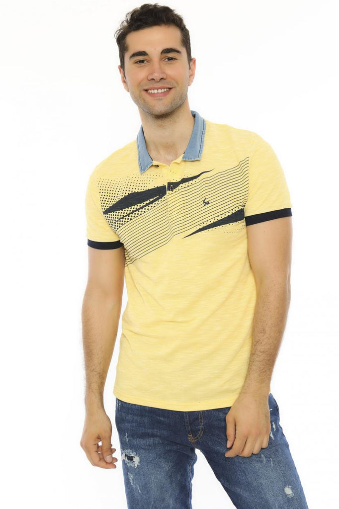 Men's Oversize Polo Collar Grey T-shirt