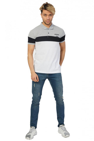 Image of Men's Polo Collar Color Block T-shirt