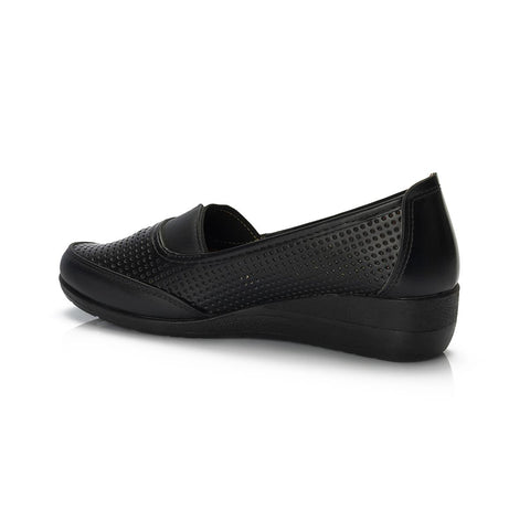 Image of Women's Black Orthopedic Wedge Shoes