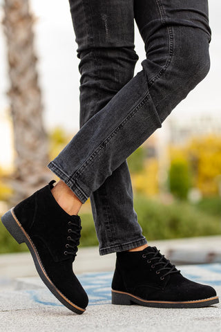 Men's Black Suede Boots