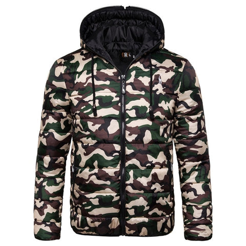 Waterproof Winter Jacket Men Hoodied Parka Men Warm Winter Coat Men Thicken Zipper Camouflage Mens Jackets