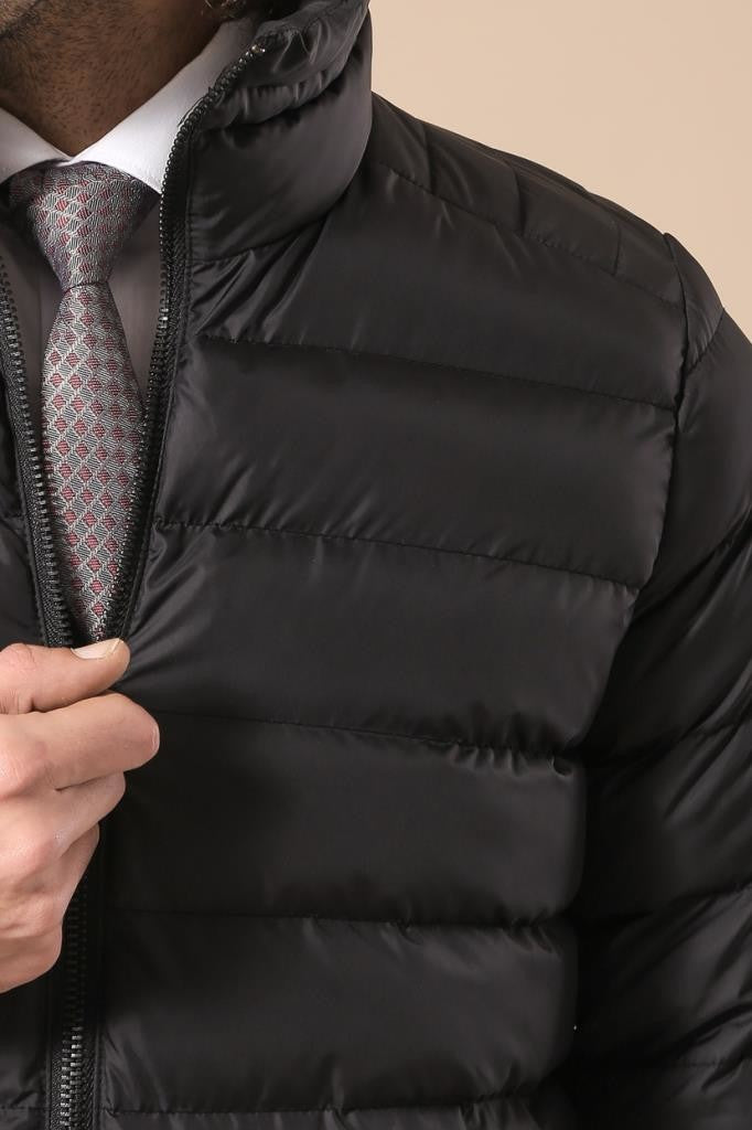 Men's Black Blown Coat