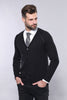 Men's Black Cotton Cardigan