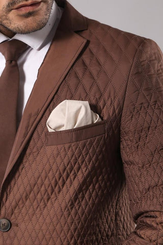 Image of Men's Brown Quilted Jacket