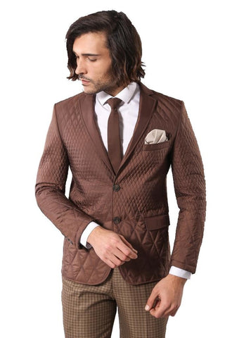 Men's Brown Quilted Jacket