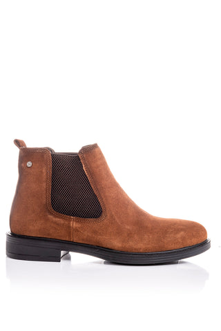 Men's Leather Detail Ginger Suede Boots