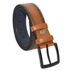 Men's Stitched Ginger Artificial Leather Classic Belt- 4 cm