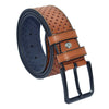 Men's Patterned Ginger Artificial Leather Sport Belt- 4.5 cm