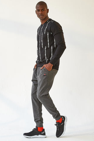 Men's Anthracite Melange Sweatpants