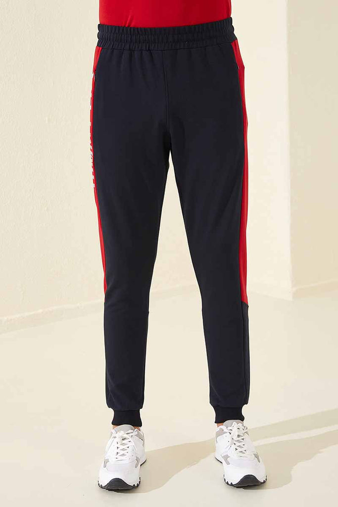 Men's Printed Navy Blue Sweatpants